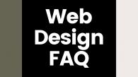 The visually represent this Web Design FAQ