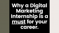 To visually represent the benefits of a digital marketing internship and why it is a must for your career