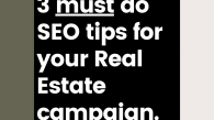 To visually represent real estate SEO tips