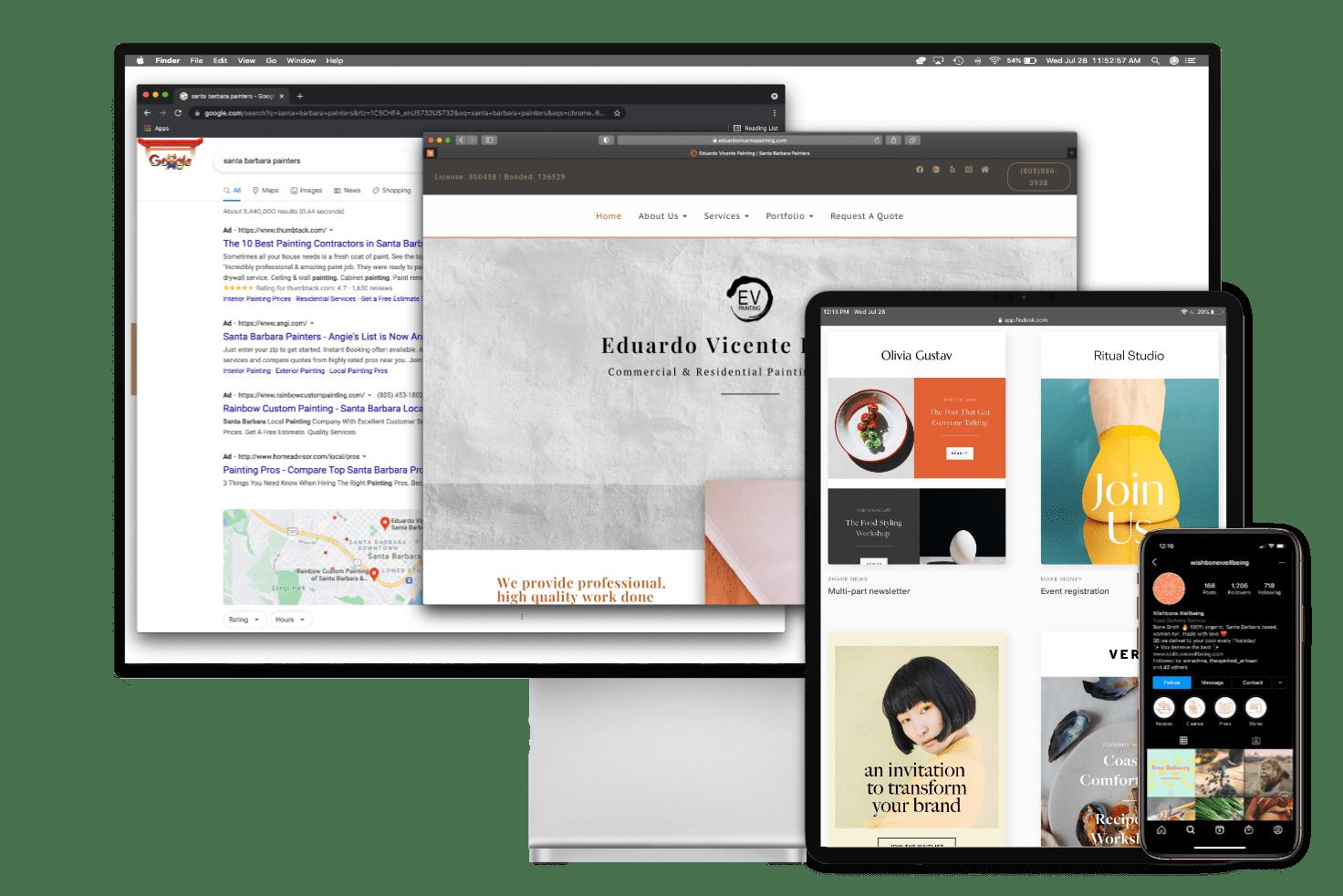To visually santa barbara website design